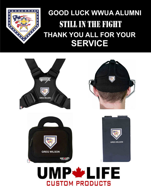 UMPLIFE Personalized 4-Pack of Bag, Chest Protector Harness, Mask Harness, Lineup Card
